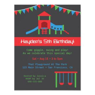 Modern Playground Kids Birthday Party Custom Card
