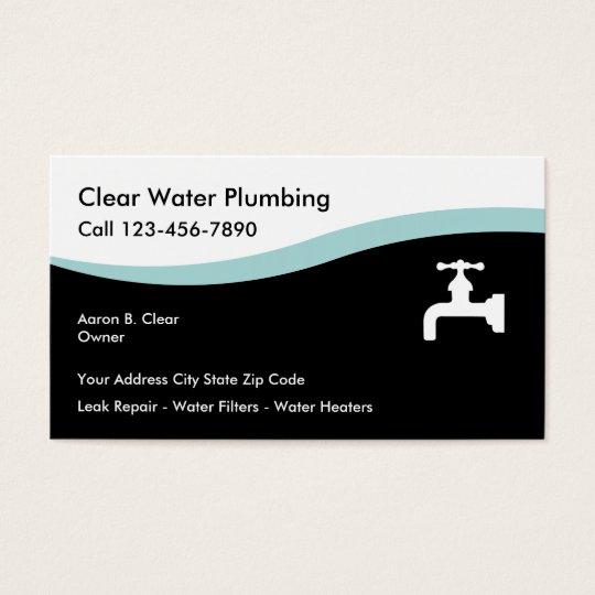 Modern Plumbing Business Cards