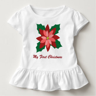 Modern Poinsettia Christmas Dress