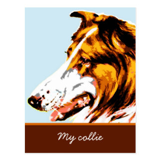 Modern pointillism: soft focus rough collie postcard