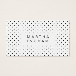 Modern Polka Dot Design Business Card