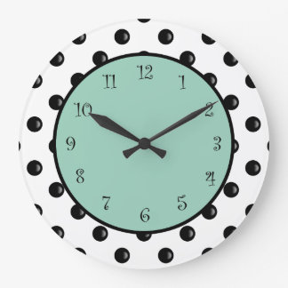 Modern Polka Dot Stylish Design Large Clock