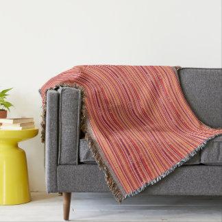 Modern Pomegranate Stripes & Boxes Throw Blanket