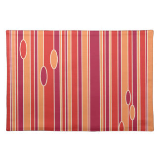 Modern Pomegranate Willows Placemats