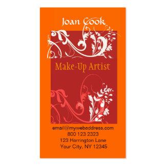 Modern Pop Cosmetologist & Makeup Business Card Template