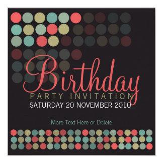 Modern Pop Dots Party Birthday Invitation