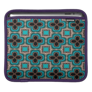 Modern Prertty Abstract Blue And Black Seamless iPad Sleeve
