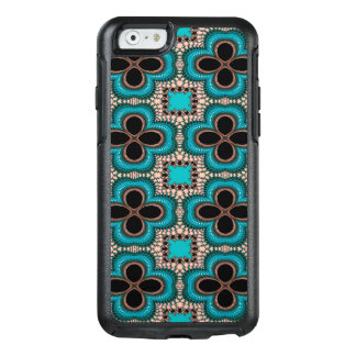 Modern Prertty Abstract Blue And Black Seamless OtterBox iPhone 6/6s Case