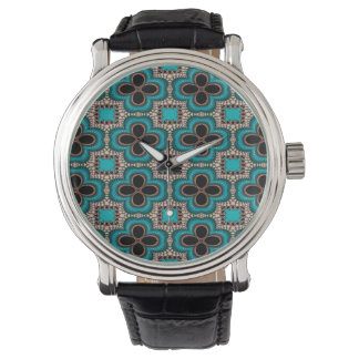 Modern Prertty Abstract Blue And Black Seamless Watch