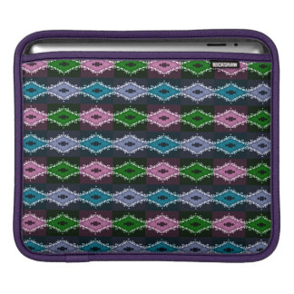 Modern Pretty Abstract Green Purple And Blue iPad Sleeve