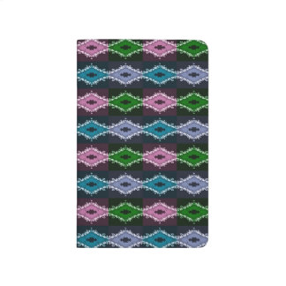 Modern Pretty Abstract Green Purple And Blue Journal