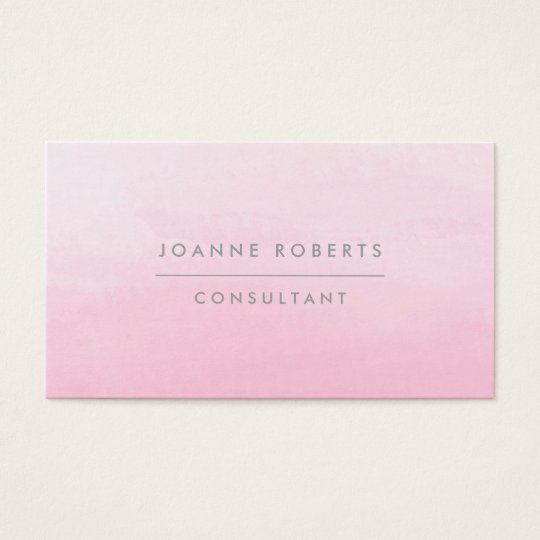 Modern Pretty Pink Ombre Beauty or Professional Business Card