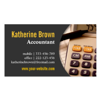 Modern, Professional, Accountant, Tax, Calculator Business Card Template