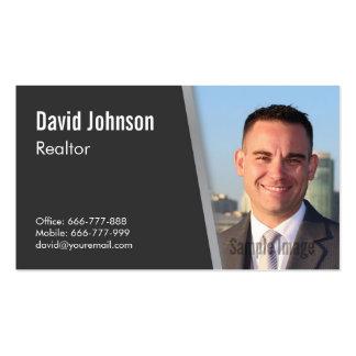 Modern Professional Black Realtor Photo Pack Of Standard Business Cards