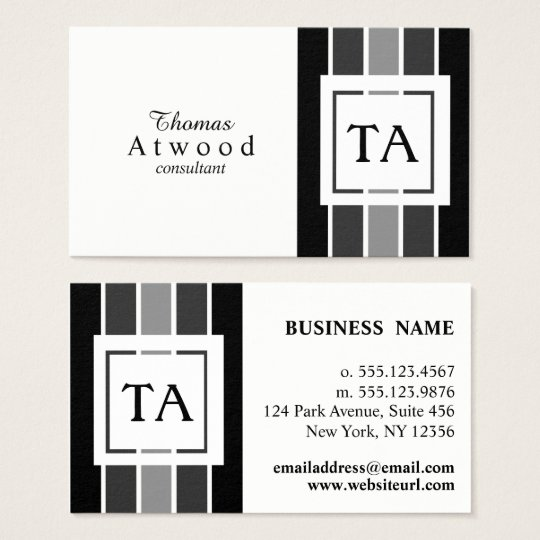 Modern Professional Business Cards in Black Grey