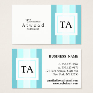 Modern Professional Business Cards in Blue