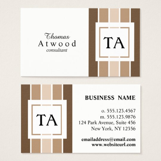 Modern Professional Business Cards in Browns