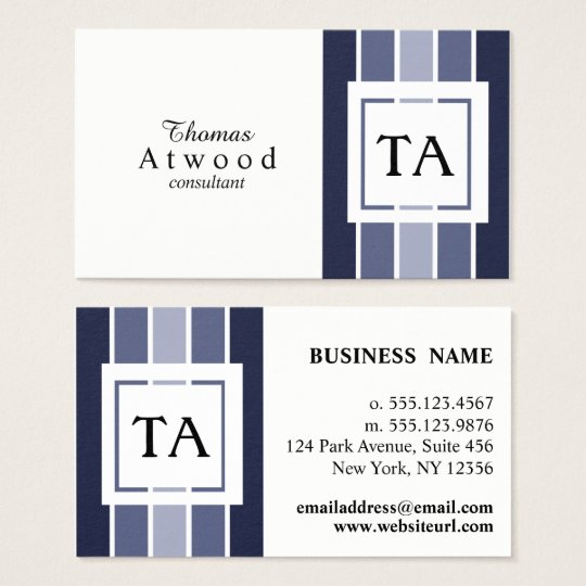 Modern Professional Business Cards in Navy Blue