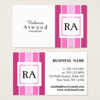 Modern Professional Business Cards Pinks