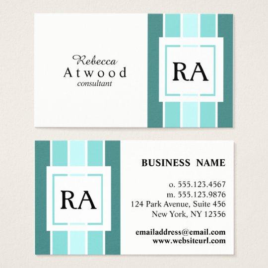 Modern Professional Business Cards Teal