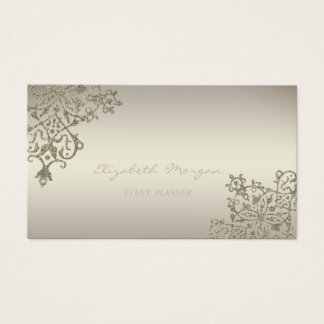 Modern Professional Charming  Luminous,Lace Business Card