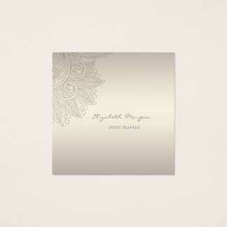Modern Professional Charming  Luminous,Lace Square Business Card