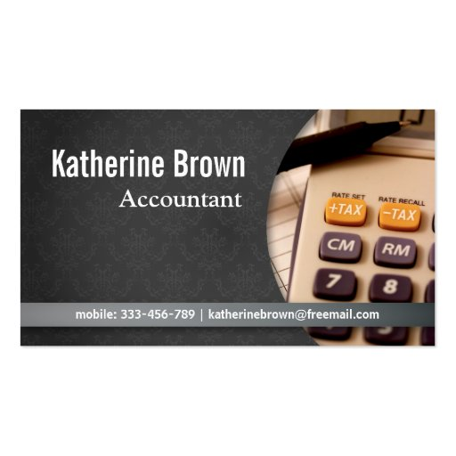 Modern, Professional, damask, Accountant Business Card Templates