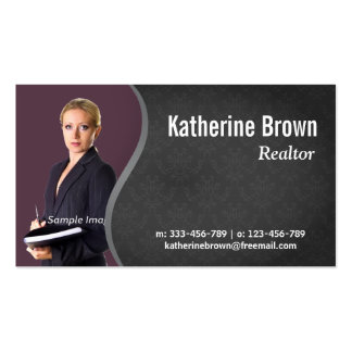 Modern, Professional, damask, Real Estate, Photo Pack Of Standard Business Cards