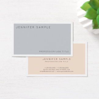 Modern Professional Elegant Colors Trendy Design Business Card