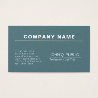 Modern Professional Elegant Plain Business Card