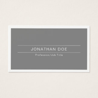 Modern Professional Elegant White Simple Plain Business Card