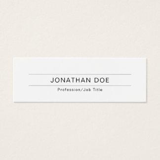 Modern Professional Elegant White Simple Plain Mini Business Card