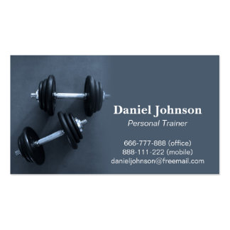 Modern Professional Fitness Personal Trainer Business Card Template