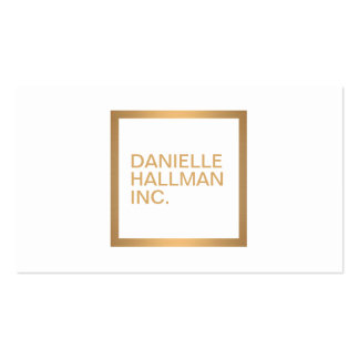 Modern Professional Gold Name Logo Pack Of Standard Business Cards