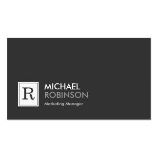 Modern Professional Monogram Black White Pack Of Standard Business Cards