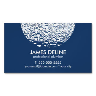 Modern Professional Plumber Magnetic Business Cards