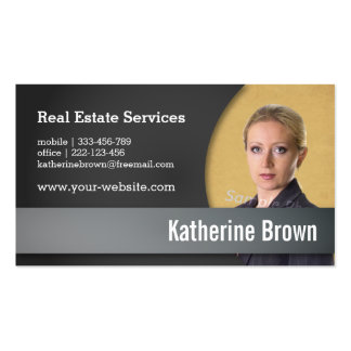 Modern, Professional, Real Estate Services, Photo Pack Of Standard Business Cards