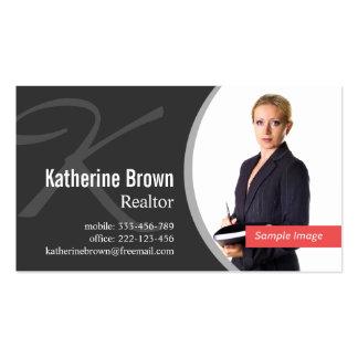 Modern Professional Realtor Monogram Photo Pack Of Standard Business Cards
