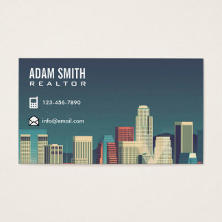 Modern Professional Realtor | Real Estate Agent Business Card