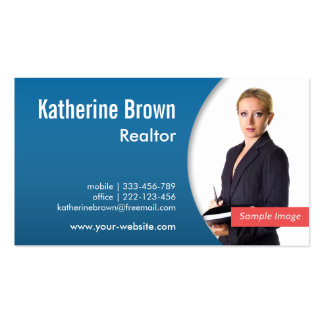 Modern Professional Realtor Real Estate Blue Photo Pack Of Standard Business Cards
