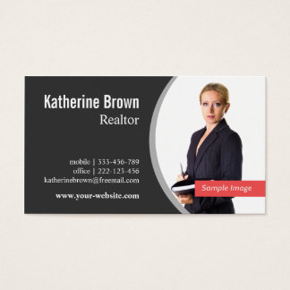 Modern Professional Realtor Real Estate, Photo Business Card
