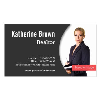 Modern, Professional, Realtor, Real Estate, Photo Pack Of Standard Business Cards