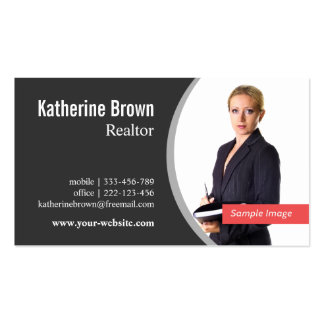 Modern Professional Realtor Real Estate, Photo Pack Of Standard Business Cards