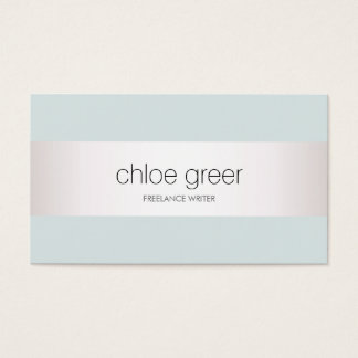 Modern Professional Silver Light Blue Business Card