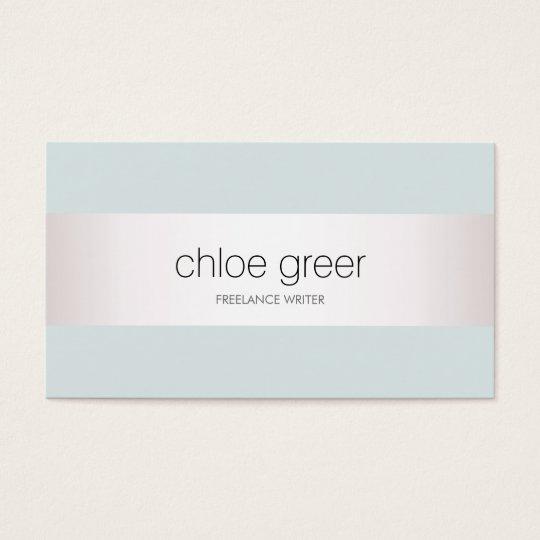 Modern Professional Silver Light Blue Business Card