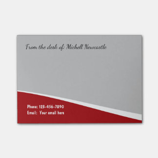 Modern Professional Style Post-it Notes
