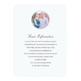 Modern Profile Directions/Information Card 11 Cm X 16 Cm Invitation Card