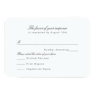 Modern Profile RSVP 9 Cm X 13 Cm Invitation Card