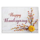 Modern Pumpkin Berries Thanksgiving Greeting Card