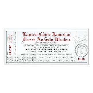 Modern Punch Card Tea Length Invitation